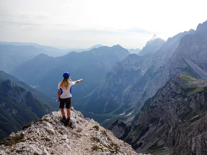 Na poti iz Kamniškega sedla na Tursko goro.