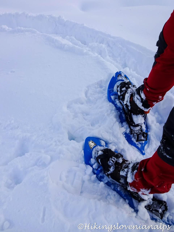 Snowshoeing in Slovenia